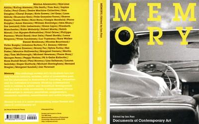 Ian Farr, ed., MEMORY (Whitechapel - Documents of Contemporary Art)