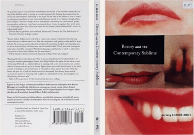 Jeremy Gilbert-Rolfe, Beauty and the Contemporary Sublime